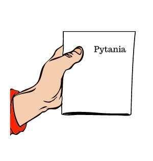 jak pozbyć się żalu - na obrazku ręka trzymająca kartkę papieru, a na niej napis: pytania